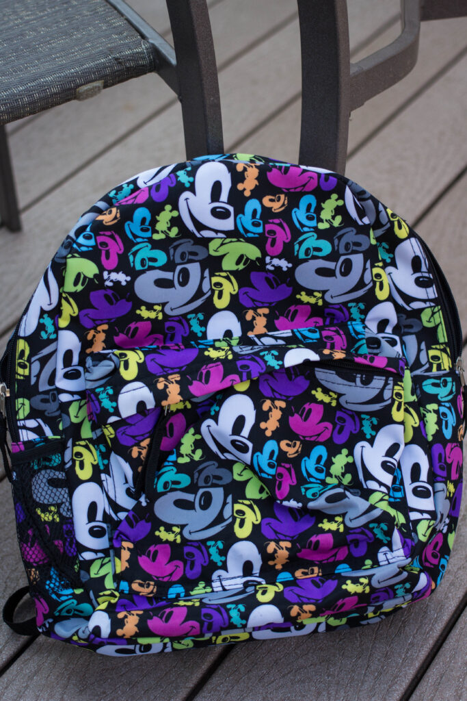 The backpack we bought in February