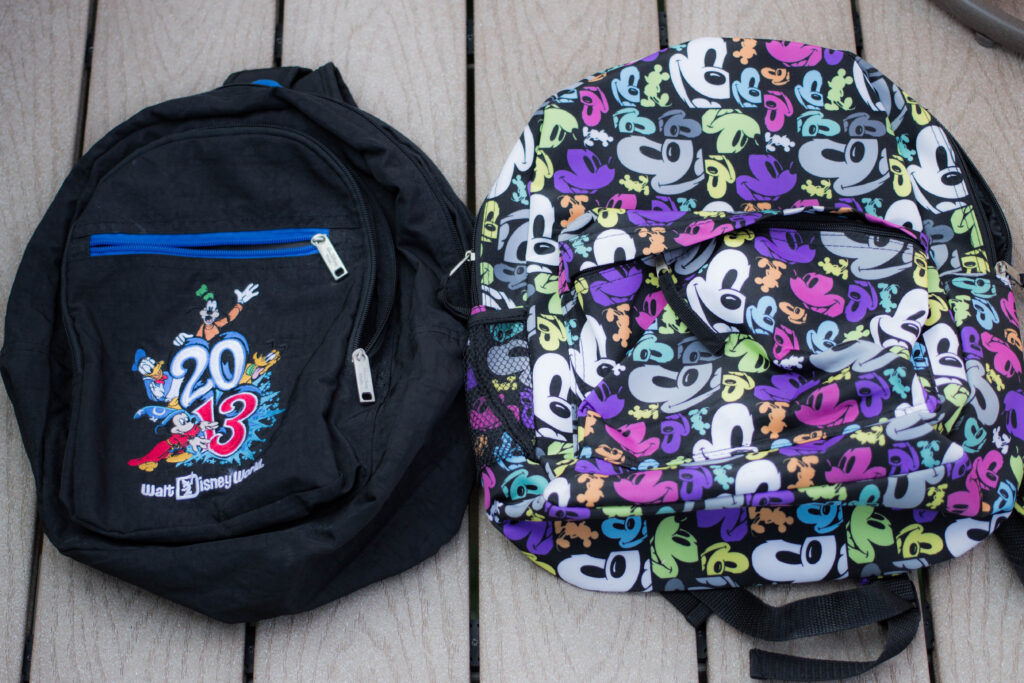 Both backpacks side by side.