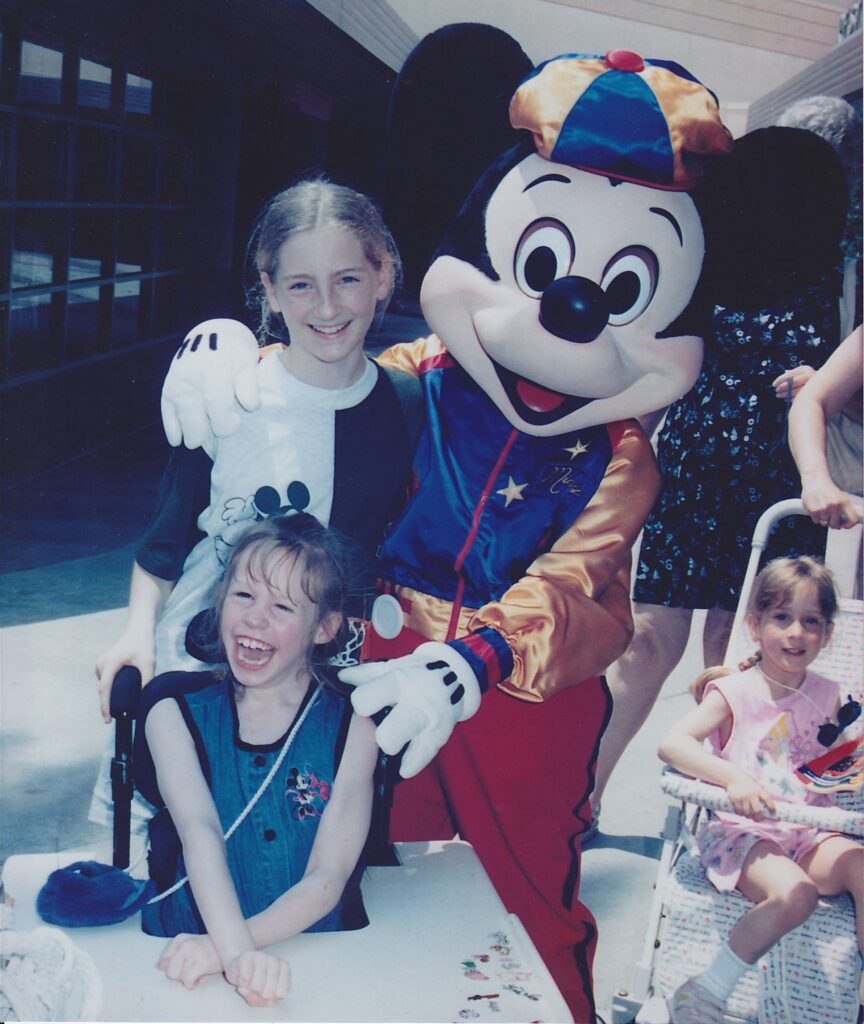 My first time meeting Mickey!