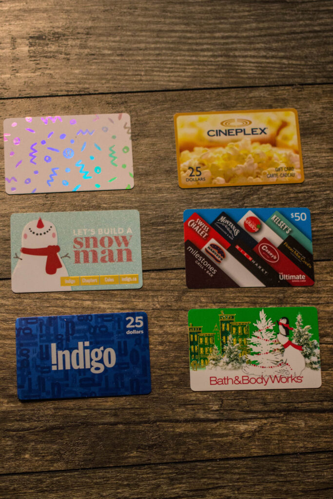 I got a few gift cards, can't wait to use them!