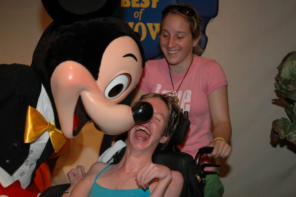 Mickey moved his nose to tickle Alex! It was adorable!