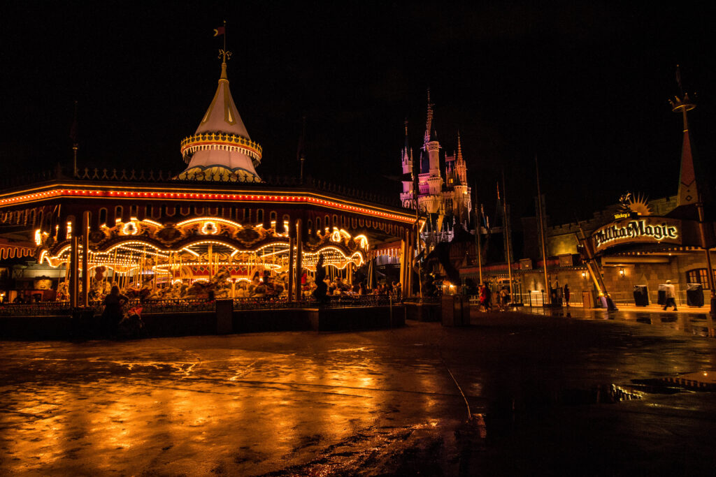 An evening in Magic Kingdom