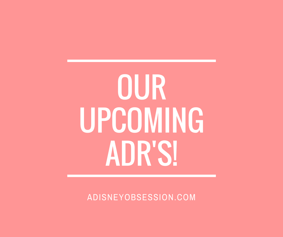 Our Upcoming ADR's