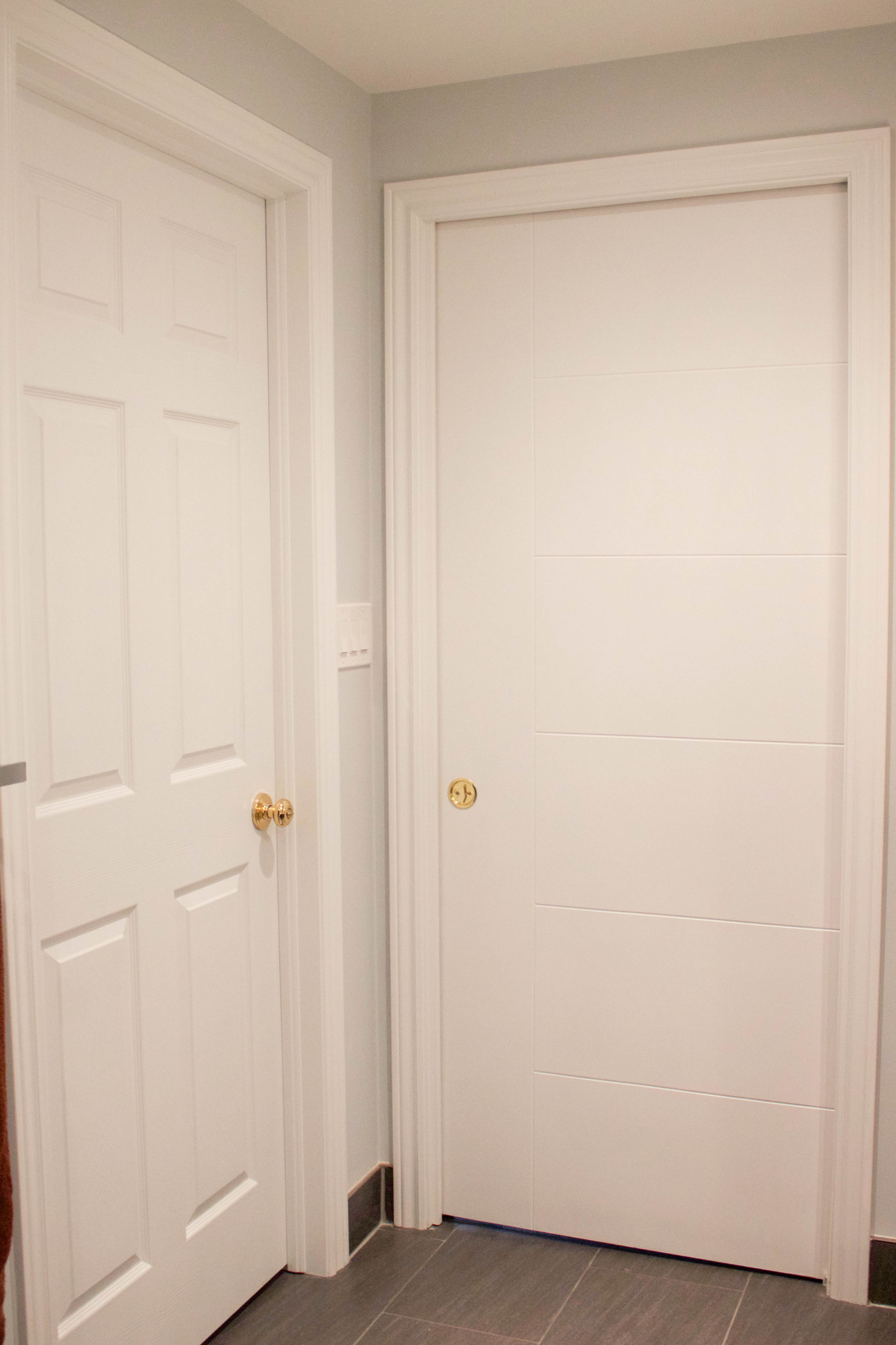 Both bathroom doors