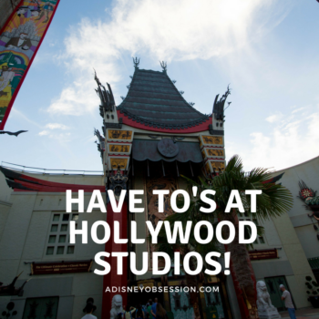 Have to's at hollywood studios