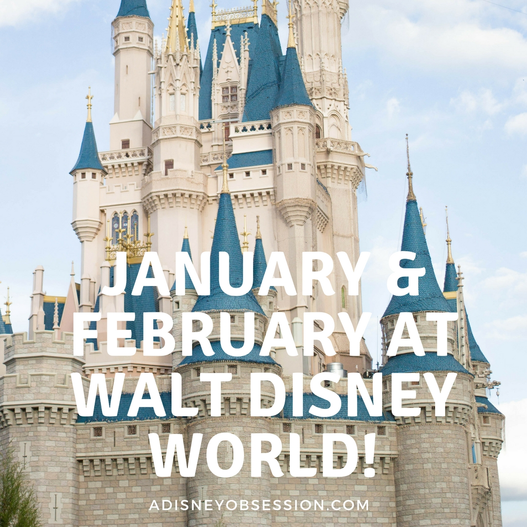 January and February at Walt Disney World