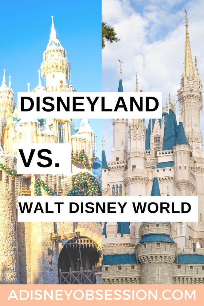 Disneyland vs. Walt Disney World, Walt Disney World vs. Disneyland, Disneyland, Walt Disney World, Disneyland food, Disneyland attractions, Disneyland hotels, a Disney Obsession, Disney trip, Disney vacation