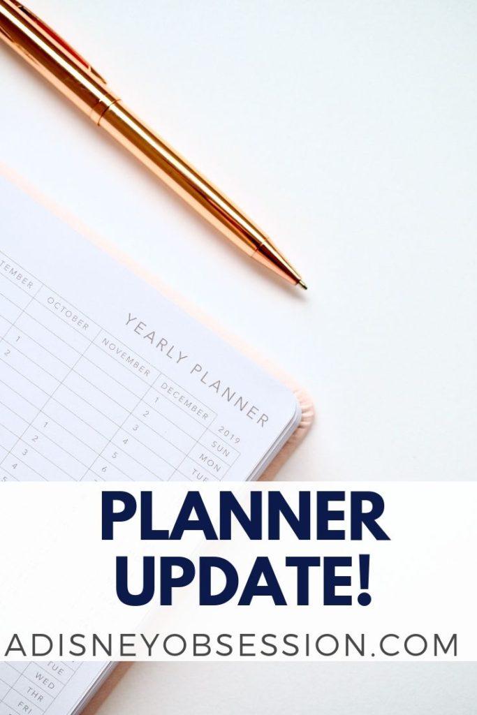 planner update, planning style, life planner, planner, Erin concern, Erin concern life planner, bullet journal, bujo, planner peace,