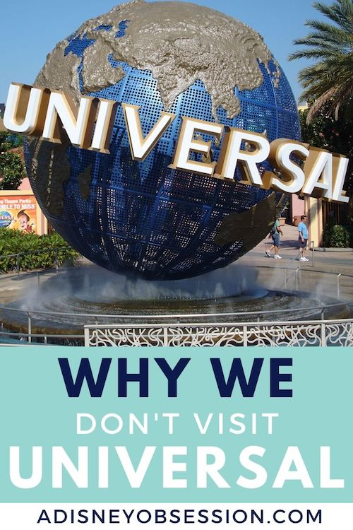 Why we don't do universal studios