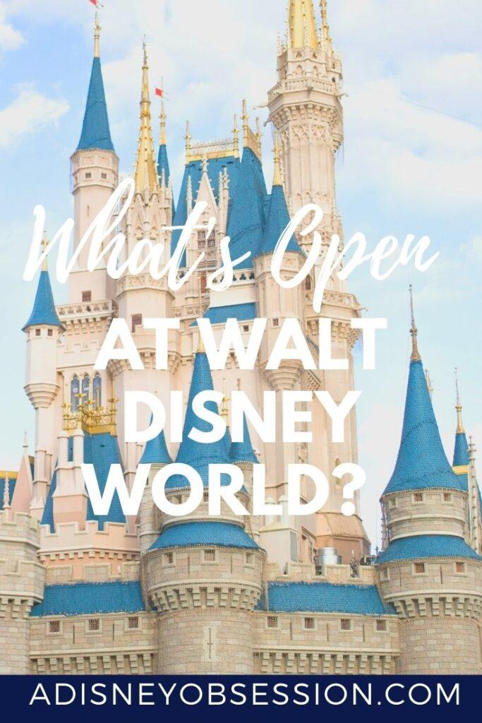what's open at Walt Disney world